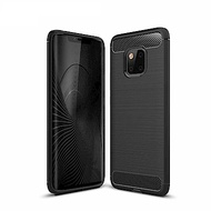 PKG  華為Mate20Pro手機殼時尚碳纖紋路+抗指紋-精緻黑
