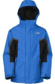 美國百分百【The North Face】 兩件式 連帽外套 保暖夾克 男 藍色 HyVent 防水 S號 C101