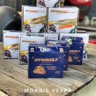 [ Morris Vespa ] 藍騎士 DYNAVOLT 膠體電池 MG12-BS-C Vespa GTS GTV