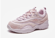 FILA Fila RAY รองเท้าผู้หญิงรองเท้าผู้ชายรองเท้าสีม่วง 2020 ฤดูใบไม้ร่วงคู่ลำลองกีฬาระบายอากาศรองเท้าวิ่ง