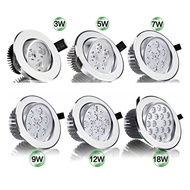 Super Bright CREE 3W 5W 7W 9W 12W 15W LED Ceiling Downlight led Downlight Recessed Spot Light for Home Lighting AC85-265V