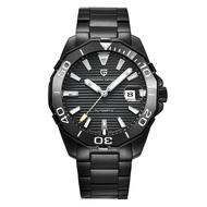 PAGANI DESIGN   黑水鬼 潛水錶系列 白刻度 黑鋼男錶 PD-1617 【Watch-UN】