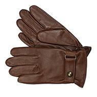 美國百分百【全新真品】Ralph Lauren 手套 RL 配件 Polo 咖啡 銅釦 小牛皮 真皮 帥氣 男用 M L號