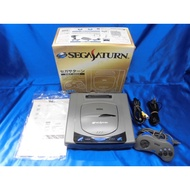 SEGA Sega Saturn Console Gray HST-3200 Boxed Tested Works Direct From Japan