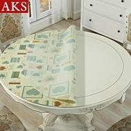 圓形桌布防水防油pvc透明板圓桌布圓桌桌墊水晶墊桌巾  『清涼一夏鉅惠』