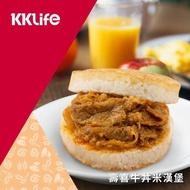 【KKLife-紅龍】壽喜牛丼米漢堡(170g/顆; 3顆/袋)