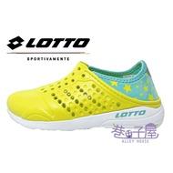 LOTTO樂得-義大利第一品牌 童款星星造型後踩洞洞鞋 防水鞋 [6234] 黃綠【巷子屋】