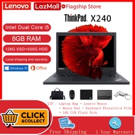 Lenovo laptop [1 Year Warranty][Brand New]ThinkPad X240 Intel Quad/Dual-Core i7/i5-4600u/4200u 8GB RAM 128G  SSD+1T/500GB HDD ROM Built-in HD WEBCAM/Camera Windows 10 Pro OS Microsoft office WiFi Bluetooth Online learning Portable business notebook