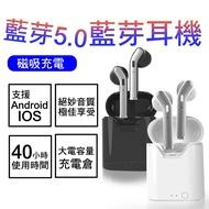 藍芽耳機 無線藍牙耳機 5.0tws 藍芽5.0 h17t 蘋果手機 iPhone ios 運動耳機 磁吸充電 重低音
