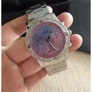 新GUESS  W0744L1 多功能三眼計時不銹鋼錶帶脕錶(銀)/guess正品手錶!