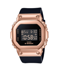 【CASIO卡西歐】G-SHOCK 金屬時尚簡約優雅經典錶-玫瑰金 (GM-S5600PG-1)