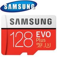SAMSUNG 三星 128GB 100MB/s EVO Plus microSDXC TF U3 記憶卡