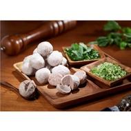 華品摃丸(貢丸)、香菇貢丸、純墨魚汁貢丸、椒麻貢丸、福州燕丸