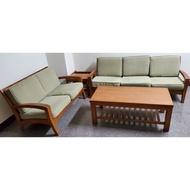 詩肯柚木沙發3+2 大小茶几 (原木 實木 餐桌 餐椅 衣櫃 餐櫃 電視櫃 做參考)