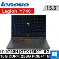 "Lenovo Legion Y740-81UF0007TW 15.6""(i7-9750H/16G DDR4/256G)"