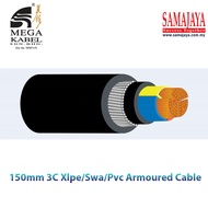 Mega Kabel 3 Core x 120mm To 300mm Xlpe / Swa / Pvc Armoured Cable Copper Conductor (Per Metre)