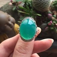 【東洋商行】台灣藍寶 藍玉髓 女性戒指 精緻戒指 典雅戒指 蛋面戒指 單石戒指