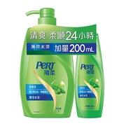 飛柔洗髮乳 薄荷水涼1000ml+薄荷水涼200ml 【大潤發】