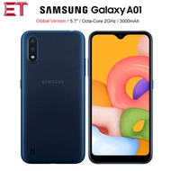 "Global Version Samsung Galaxy A01 A015F-DS 4Gโทรศัพท์มือถือ5.7 ""2GB RAM 16GB ROM Octa Core android10 Dual SIM 3000MAhสมาร์ทโฟน"