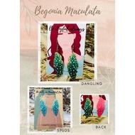 Begonia Maculata Earrings