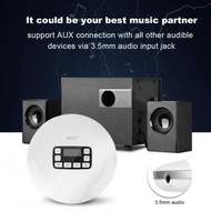 Sweatbuy LCD Portable AUX CD Player + Headphone for MP3/CD/CD-R/CD-RW Disk White US Plug