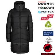 【瑞士 MAMMUT 長毛象】女新款 Fedoz IN Hooded 輕量防風長版羽絨外套.夾克/1013-00202-0001 黑