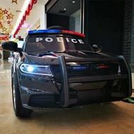 兒童電動車 電動童車車四輪帶遙控汽車可坐小孩搖擺童車寶寶玩具車可坐人警車【伊卡萊生活館】