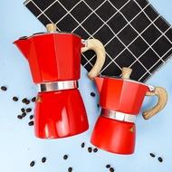 [COF] MOKA ESPRESSO (สีแดง) กาต้มกาแฟ มอคค่าพอท อลูมิเนียม อิตาเลี่ยน อุปกรณ์ เครื่องชงกาแฟ อุปกรณ์กาแฟ ชงกาแฟ ดริปกาแฟ กาแฟ ทำกาแฟ
