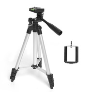 discount tripod WT-3110A portable light camera tripod and ball head + carrying bag Phone clip for Ca