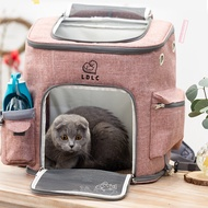 LDLC พับซิปกระเป๋าใส่สัตว์เลี้ยงกระเป๋าเป้สะพายหลังสุนัขแมวผู้ให้บริการเดินทางกลางแจ้ง Packbag แบบพกพาตาข่ายสัตว์เลี้ยงออกกระเป๋ากระเป๋าเป้สะพายหลังแมว LDLC Foldable Zipper Pet Bag Carrier Backpack Dog Cat Outdoor Travel