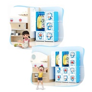 DIY Cube Cabinet Clothing Wardrobe Cartoon Design for Kid's Wardrobe | Almari Pakaian Baju Budak/Kanak Corak Kartun