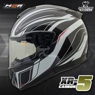 贈好禮 M2R安全帽 XR-5 #3 黑白 碳纖維帽殼 卡夢 全罩帽 超輕 雙D扣 XR5 全罩式 耀瑪騎士機車部品