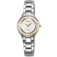 LICORNE 永恆時光真鑽系列 天使光環璀璨手錶-白x金/30mm
