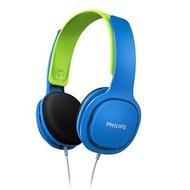 飛利浦 - SHK2000BL Kids On Ear Headphones 兒童耳機 - [藍色] (平行進口)