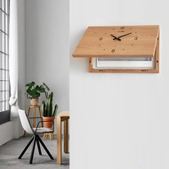 翻蓋遮擋箱遮電箱的掛鐘簡約橫款帶表diy