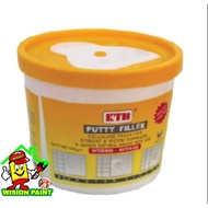 WHITE PUTTY FILLER : KTH Putty Filler Filling Cracks and Holes ( 0.5KG ) - White Colour