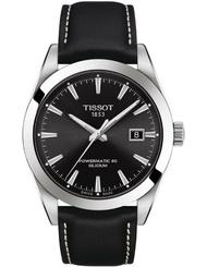 TISSOT 天梭表 T1274071605100 GENTLEMAN POWERMATIC 80 SILICIUM 經典簡約時尚腕錶/黑 40mm