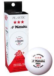 Nittaku SHA 40+ 三星 乒乓球(白色)(2顆)