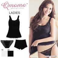 Qmomo Tank Top (with built-in wireless bra)  Panty and Pants 3-Piece Set(A57Q1602001)