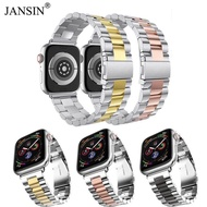 JANSIN Stainless Stee Strap For Apple Watch Band Series 5 4 40mm Wristband Link Bracelet Belt