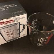 【沐湛咖啡】TIAMO 耐熱玻璃量杯 200ml/200CC 三種計量單位 玻璃刻度量杯 計量杯 台灣製
