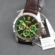 全新 SEIKO SBTR017 手錶 40mm 日本限定 綠面盤 咖啡皮錶帶 男錶女錶