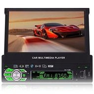 FiveFour 7.0-Inch Single Din In-Dash Flip Out Touch Screen Car Stereo with Rear View Camera Support USB/SD/MP3/MP5/FM/AM Bluetooth,Touchscreen,Wireless Remote