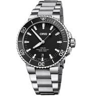 【ORIS 豪利時】Aquis 時間之海潛水機械錶(0173377304154-0782405PEB)