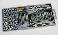 絲攻板手工具組 40件組合套絲(攻螺絲牙)工具 絲錐板牙套裝 專攻螺紋 超硬度螺紋精確