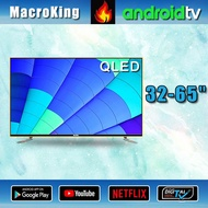 """MacroKing 32"""" 43"""" 50"""" 55"""" 65"""" inch QLED 4K UHD 2020 NEW MODEL WIFI SMART TV DVB-T2/S2 android version Double screen Free shipping Toughened glass Free warranty for 2 years explosion-proof Samsung screen 32Q888 43Q888 50Q888 55Q888 65Q888"""
