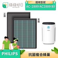 綠綠好日 複合型 抗菌 蜂巢顆粒 濾芯 濾網 適 Philips 飛利浦 AC2889 FY2422 FY2420 空氣清淨機