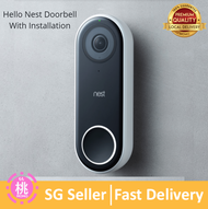 Nest Hello Wired Smart Wi-Fi Video Door Bell - Google ( Transformer Included )