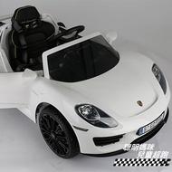 保時捷 918 原廠授權 雙驅兒童電動車 白色
