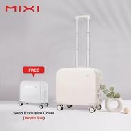 Mixiกระเป๋าเดินทางถือขึ้นเครื่องได้สำหรับชายและหญิง,กระเป๋าเดินทางล้อลากขนาด16-18นิ้วกันความชื้นมาตรฐานTSA 360ล้อแบบหมุนใช้งานได้อเนกประสงค์M5236